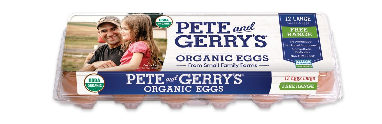Pete & Gerry's Organic Eggs Packaging Render