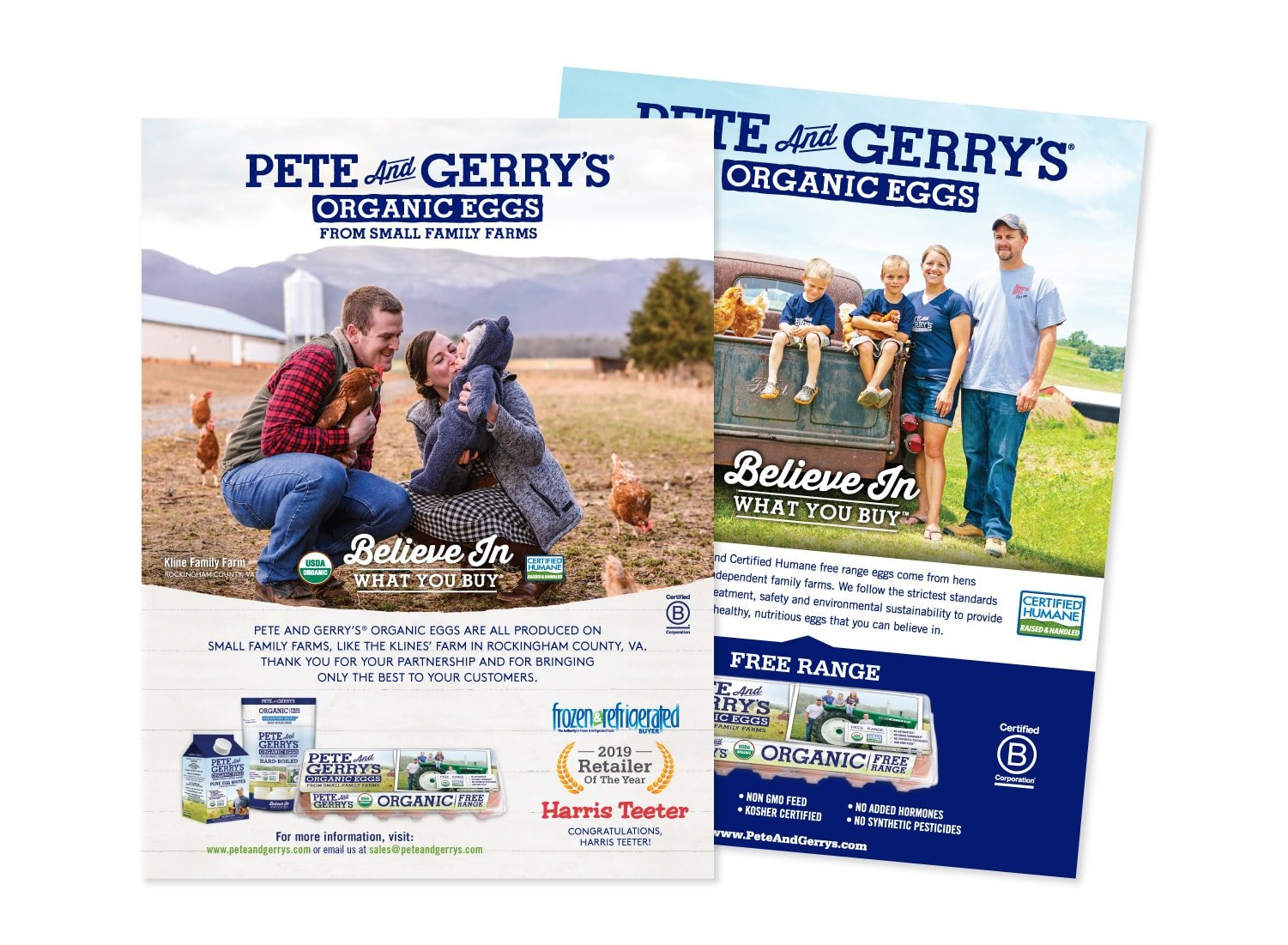 Pete & Gerry's Sell Sheets