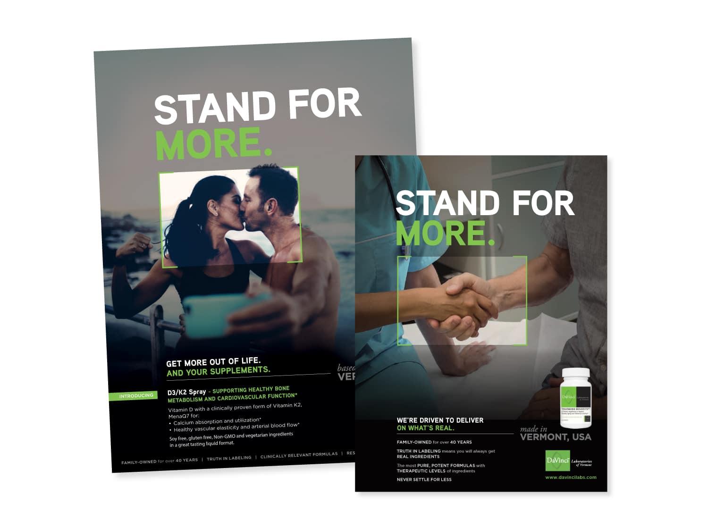 DaVinci Print Advertising