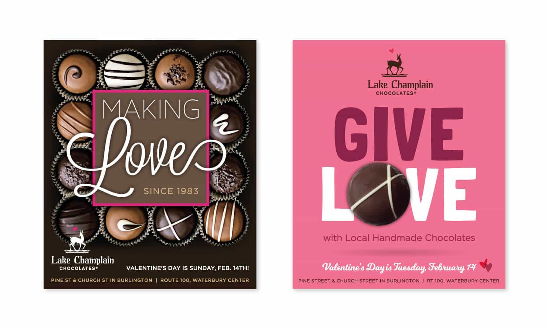 Valentine's Day Print Advertising