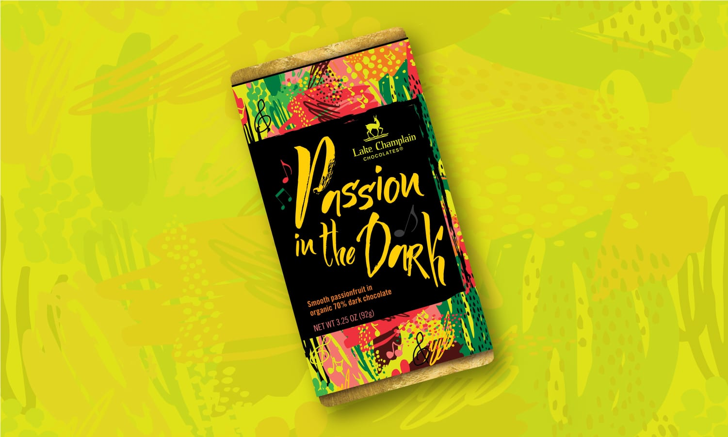 Passion in the Dark Chocolate Bar Packaging