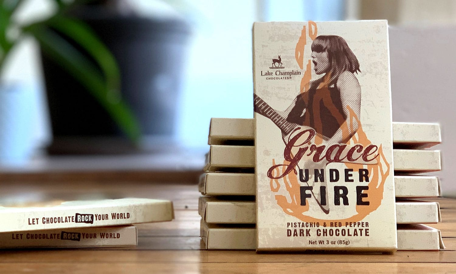 Grace on Fire Chocolate Bar Packaging