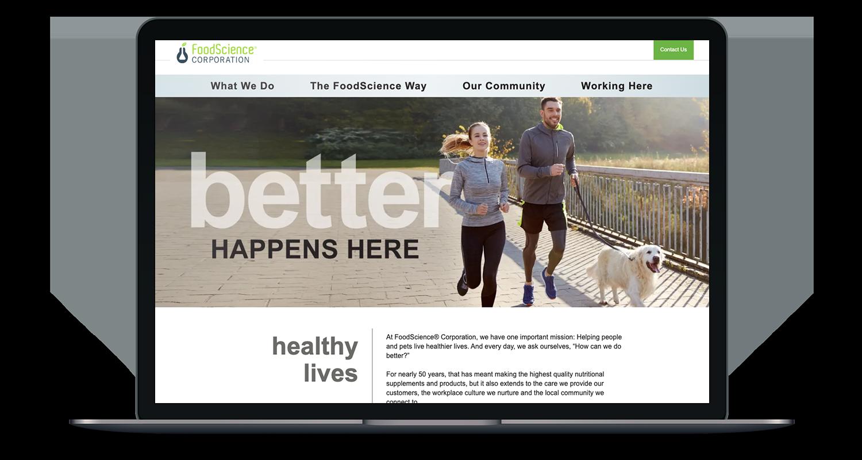FoodScience Corporation Website