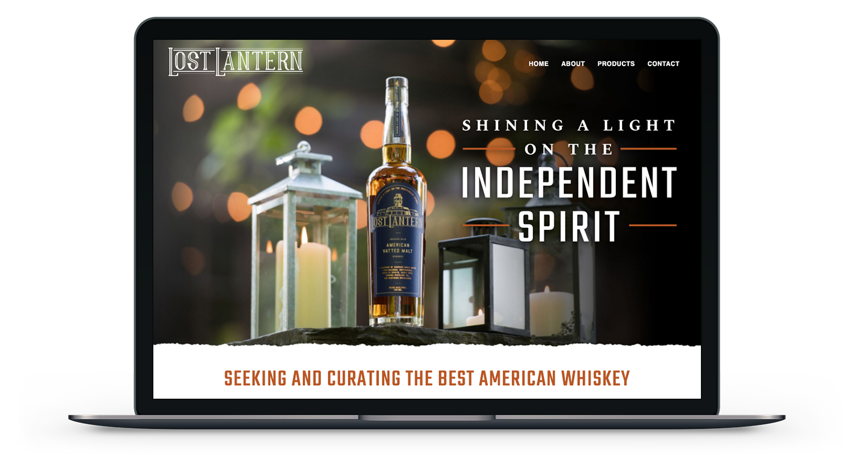 Lost Lantern Whiskey Website