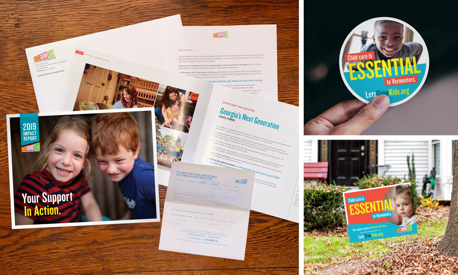 Let's Grow Kids Campaign Collateral